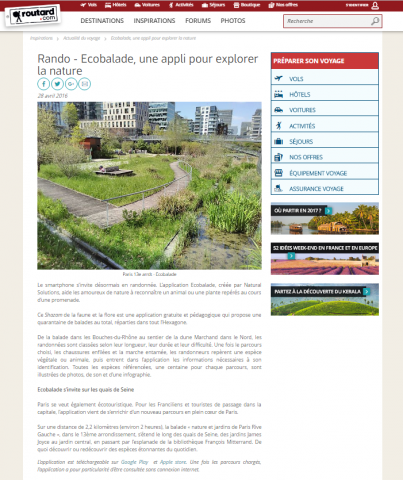Le routard Ecobalade