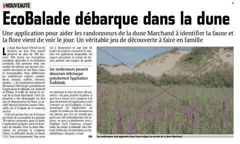 Le Phare dunkerquois ecobalade