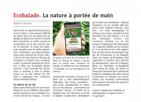 Ecobalade. La nature à portée de main - Le télégramme