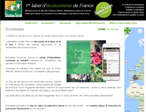 article Ecobalade Stations Vertes