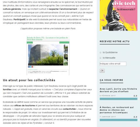 Up le Mag Ecobalade