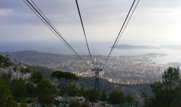 Mont Faron : vue du téléphérique