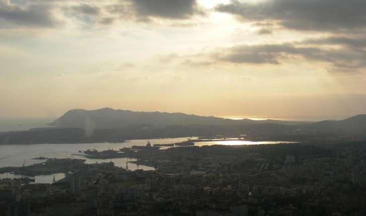 Mont Faron : vue de la rade de Toulon