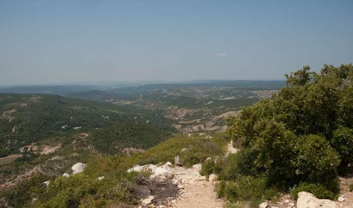 Vue depuis le sentier - Balade Montagne Sainte-Victoire (Crédits : Cédric Seguin)