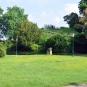 Centre ville d'Auxerre. Ici, le parc Paul Bert.